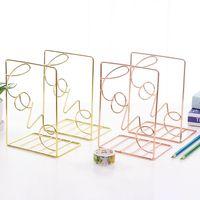 2 шт./пара  креативная металлическая стойка для книг в форме сердца  стойка-держатель для хранения книг  Органайзер