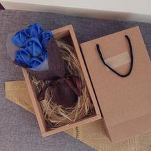 Фестиваль мыло цветок Креативный красивый цветок коробка твердый переплет подарки на день рождения девочка мама День матери мыло ручной работы Роза