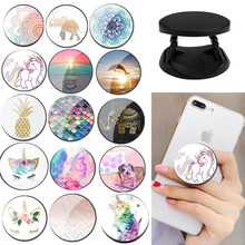 ZUCZUG lovely unicorn Painted Foldable Phone Stand Holders For Smartphones and Tablets Mobile Phone Universal Finger Ring Holder cheap Plastic