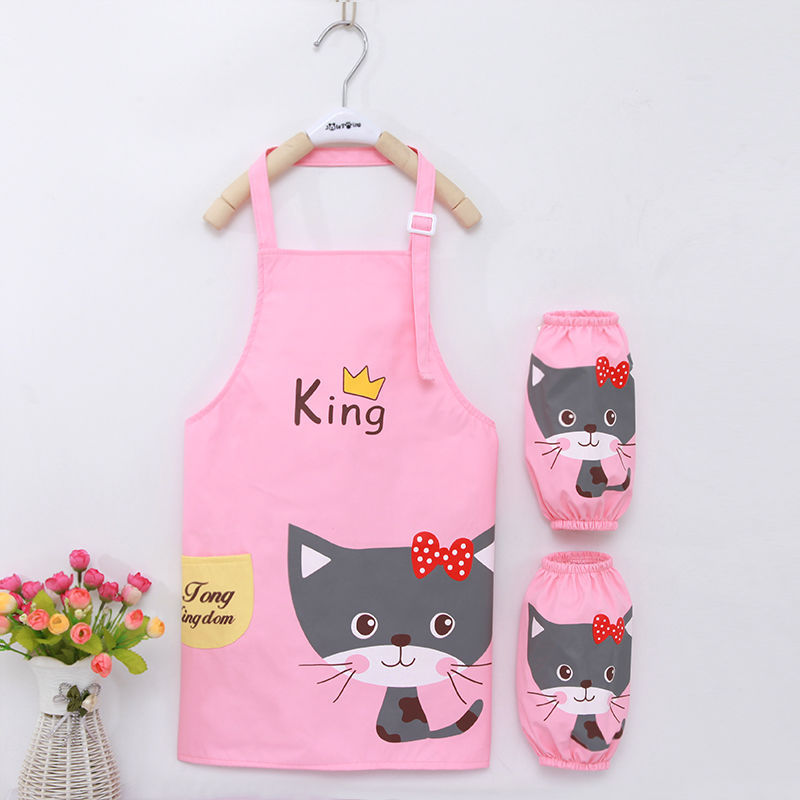 Overclothes Eating Apron Waterproof Sleeveless Children Painting Painting Clothes Kindergarten Anti-Dirty Protective Clothing Ba
