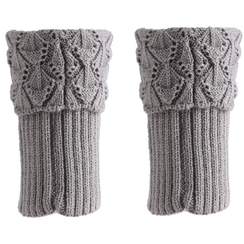 Hot Fashion Women Leg Knee Warmers Winter Knitted Solid Crochet Leg Warmer Socks Keep Warm Boot Cuffs
