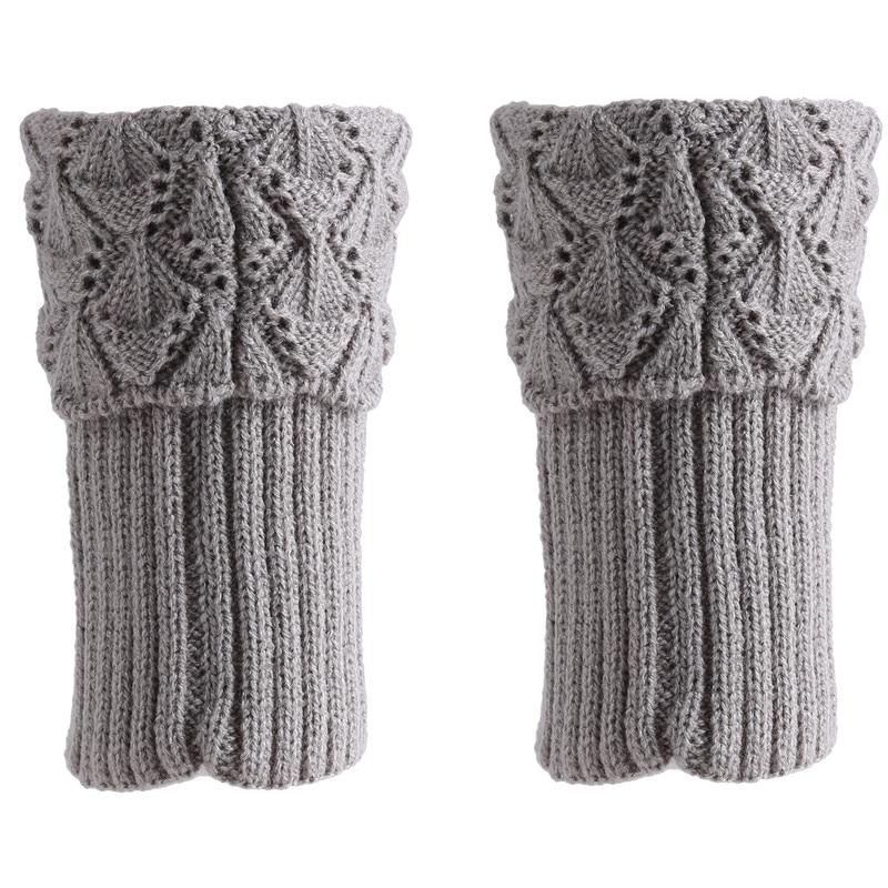 Hot Fashion Women Leg Knee Warmers Winter Knitted Solid Crochet Leg Warmer Socks Keep Warm Boot Cuffs