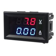 Dc0-100v czerwony i niebieski 10a Led Dc podwójny wyświetlacz cyfrowy miernik napięcia i prądu głowica z precyzyjna regulacja tanie tanio CN (pochodzenie) plastic 48 x 29 x 22 mm black ≤20mA DC 0-100V 0 1V 0 01A 1 (±1 digit)