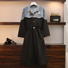 Large size S-XXL vrouwen jurk 2019 Autumn nieuwe  hoge kwaliteit mode elegante vestidos (Long section)