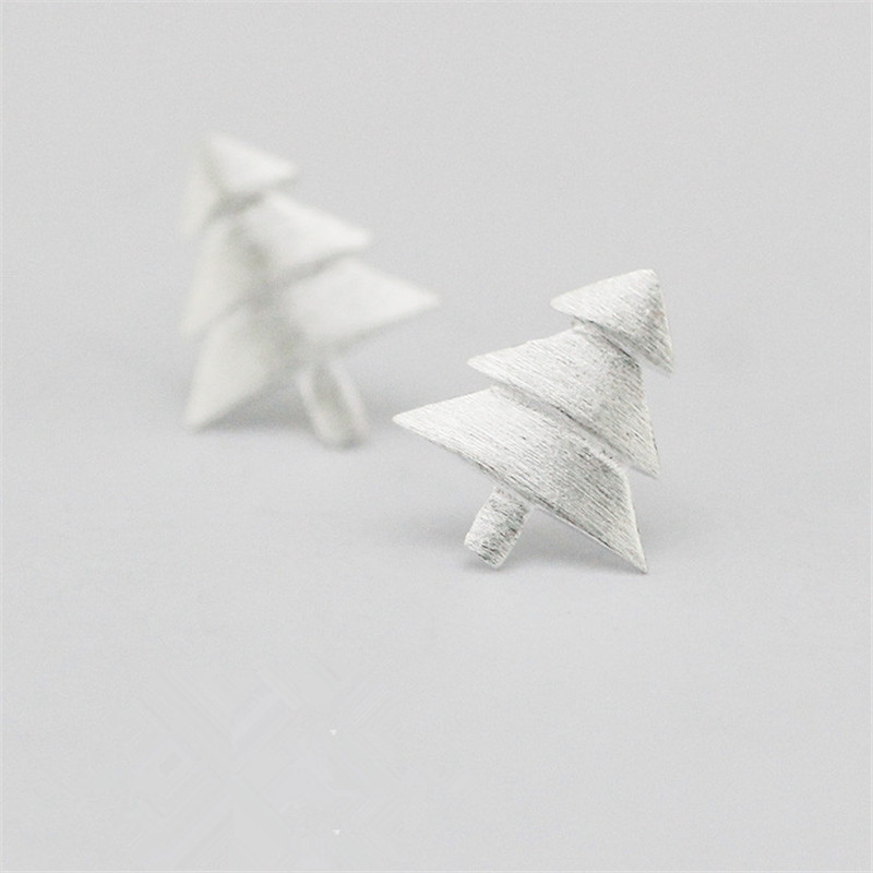 100-925-Sterling-Silver-Christmas-Tree-Stud-Earrings-for-Women-Party-Gift-Jewelry-pendientes-boucle-d