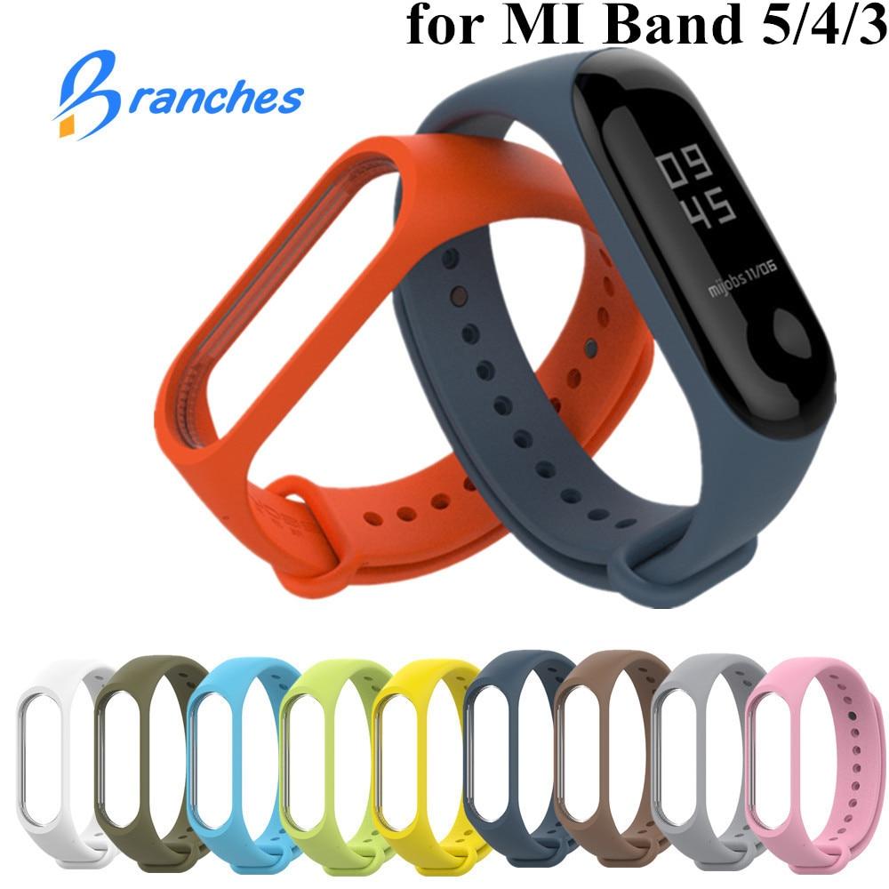 Bracelet for Xiaomi Mi Band 5 4 3 Sport Strap watch Silicone wrist strap For xiaomi mi band 3 4 5 bracelet Miband 4 3 5 Strap(China)