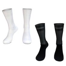 Новые профессиональные командные Aero Носки Нескользящие силиконовые велосипедные носки мужские велосипедные спортивные носки для бега вел...