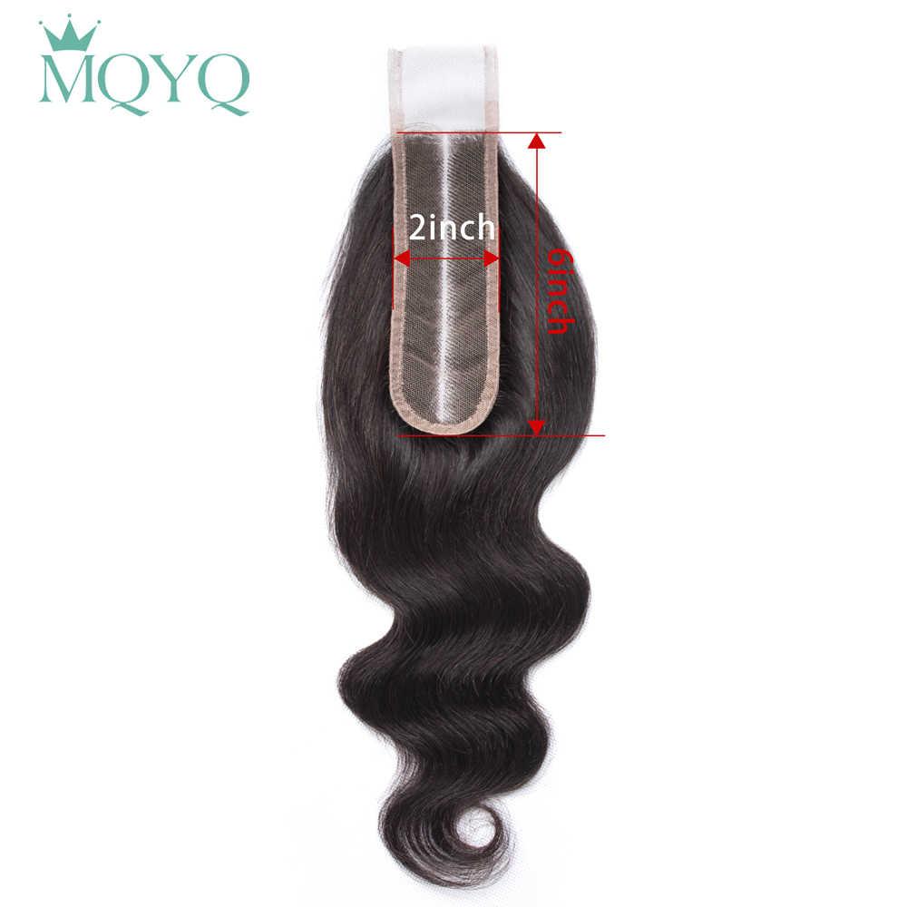 Sapphire Brasilianische Menschenhaar Spitze Verschluss Körper Welle Verschluss 2x6 Mittleren Teil Nicht-Remy Mit Baby Haar 100% menschliches Haar Weben