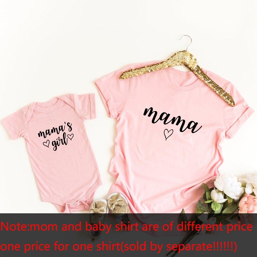 Chemises maman et Me | 1 pièce, T-Shirts assortis, à la mode, pour mère et fille, cadeau pour nouveau bébé