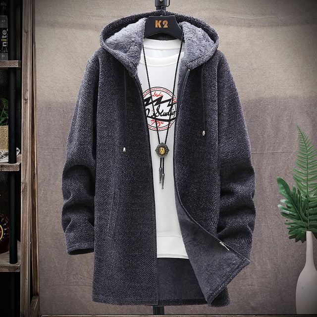 Men's Sweaters Cardigan Men 2020 Knitted Winter Thicken Mens Sweater Hooded Coat Male Slim Fit Knitting Sweaters M 3XL