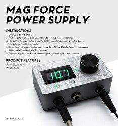 Diseño de grabado 3,4 Amp Mag Force tatuaje Digital fuente de alimentación