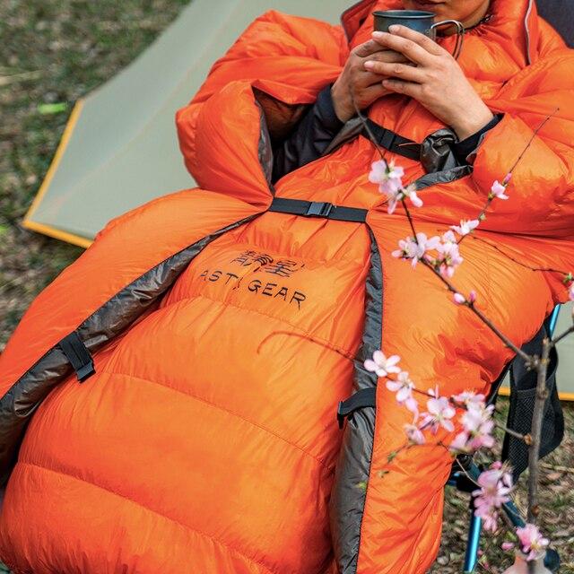 ASTAGEAR Quilt 20D Sleeping Bag  95% White Duck Down  5