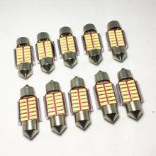 10 шт. автомобильный гирлянда 31 мм 36 мм 39 мм 42 мм светодиодный светильник C5W супер яркий 4014 SMD Canbus автомобильный Стайлинг осветительная лампа 12...