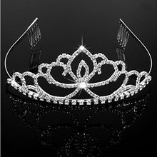 Diverse Silver Crystal Bride Tiara Crown Fashion Pearl Queen Wedding Crown Headpiece Wedding Hair Jewelry Accessories Wholesale(China)