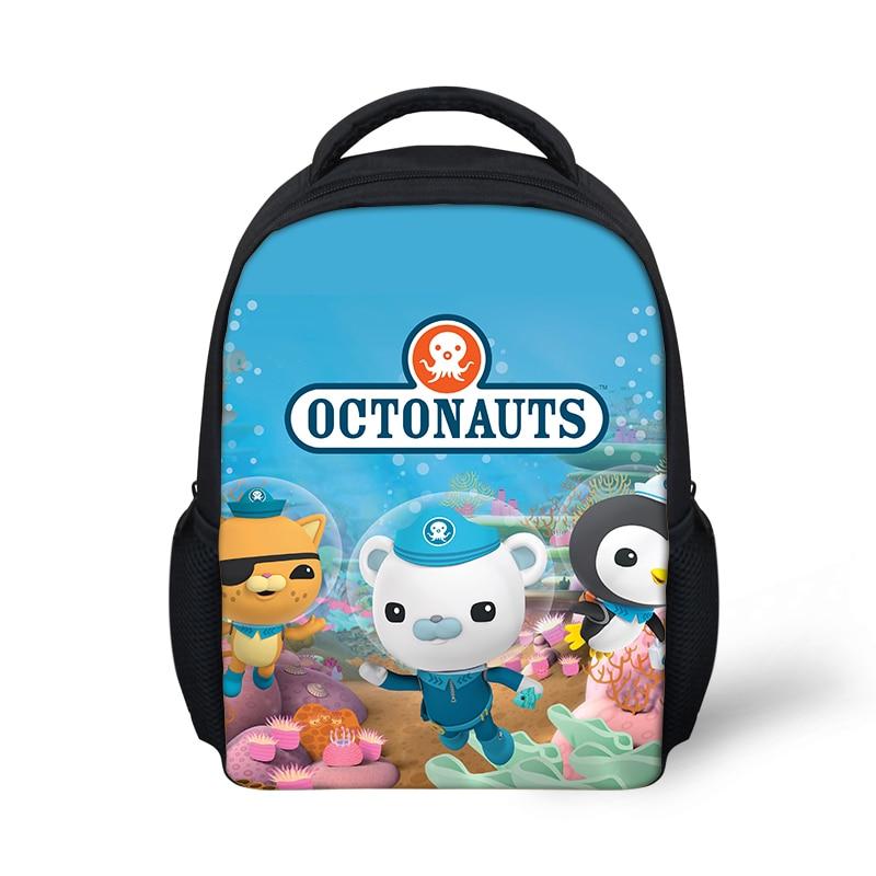 HaoYun Kindergarten Kids Backpack The Octonauts Pattern Babies School Book Bags Cartoon Anime Design Boys Girls Small