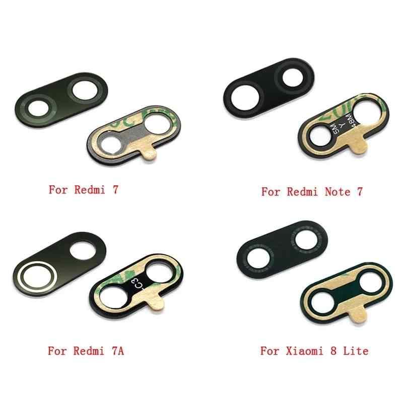 Belakang Back Kamera Lensa Kaca Cover untuk Xiao Mi Redmi Note 7/Mi 8 Lite 7A A1 A2 6A redmi 6 Pro S2 Se Mi X 2 dengan Perekat Stiker