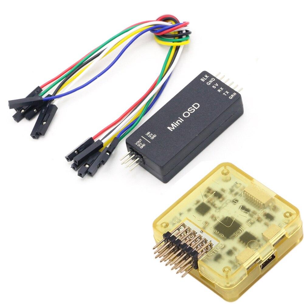 Openpilot CC3D EVO Flight Controller With Case & MICRO Mini OSD APM / PIXHAWK For FPV Stingy V2 235 ZMR250 FPV Drone Quadcopter(China)