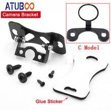 Stainless Steel Black Car Rear View Camera Bracket Holder DVR Parking Metal Mounting Case