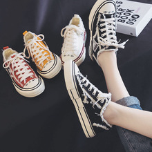 Breathable Women Canvas Shoes Solid Fashion Sneakers Spring/