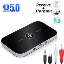 Bluetooth 5.0 alıcı verici kablosuz ses adaptörü PC TV Bluetooth 5.0 4.2 3.5mm AUX Jack müzik alıcısı araç kiti hoparlör