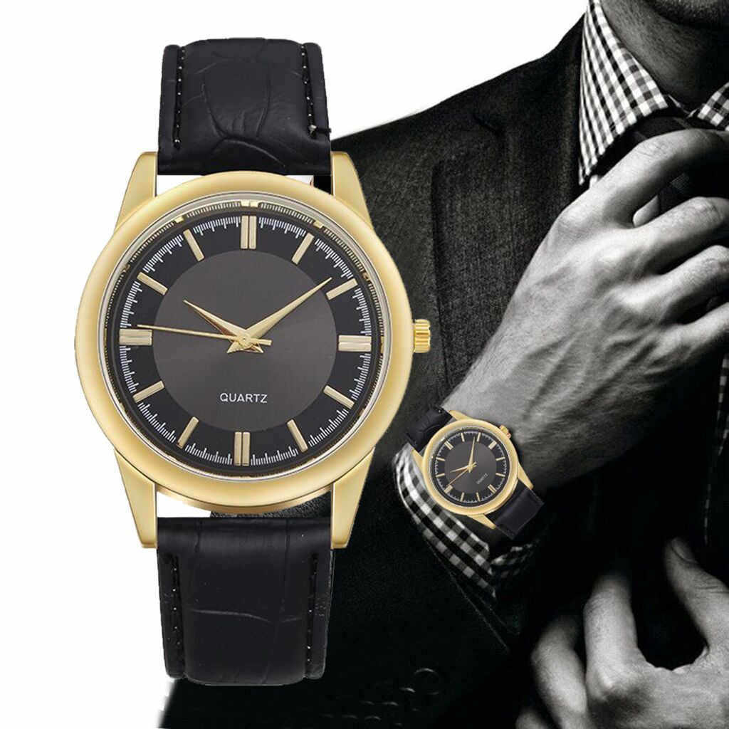 Men's Luxurious Business Leather Belt Watch Simple Mirror Quartz Sport Fitness Watches For Men 2020 Gift Clock