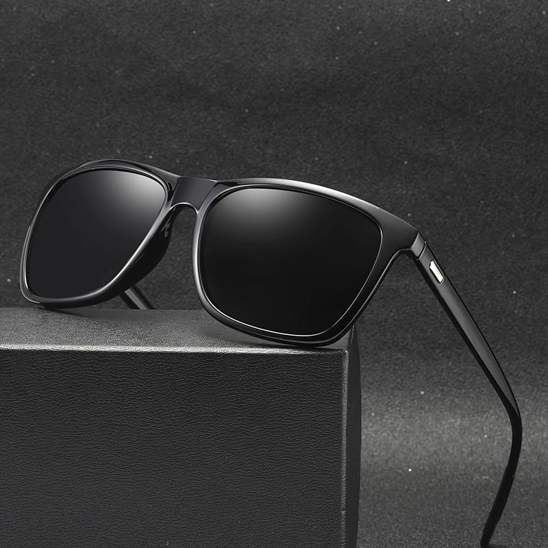 ZXWLYXGX Brand Design Polarized Sunglasses Men Driver Shades Male Retro Vintage Sun Glasses Men Spuare Mirror UV400 Oculos