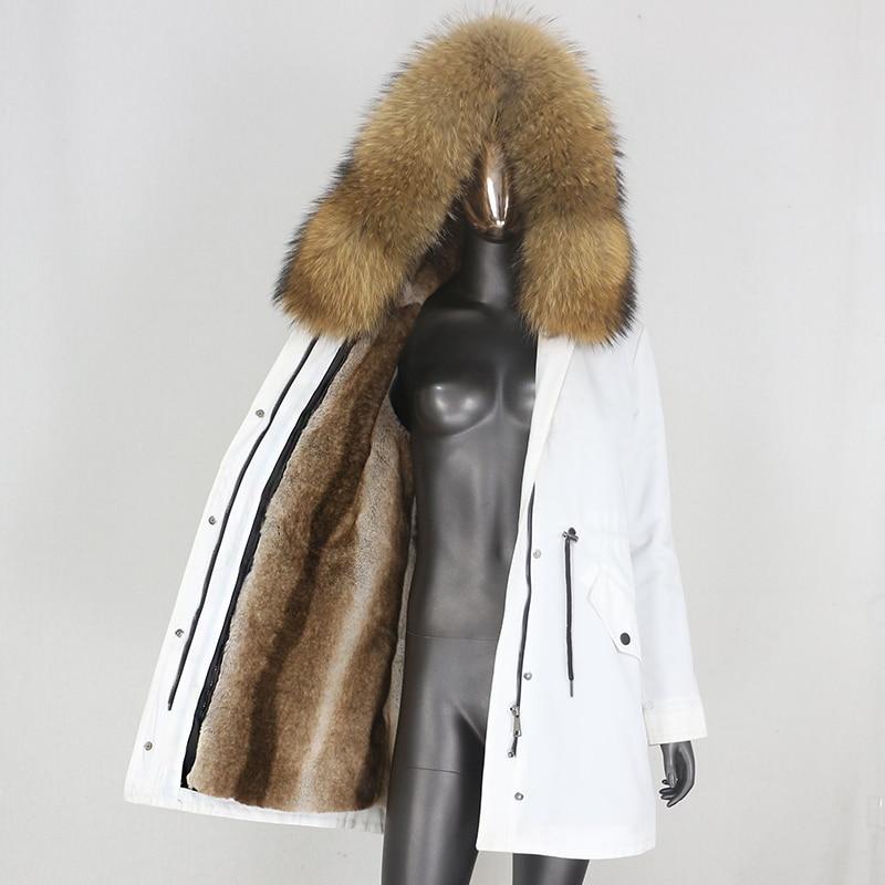 H0ae9515e08fd491580c77c654c3a828cN CXFS 2021 New Long Waterproof Parka Winter Jacket Women Real Fur Coat Natural Raccoon Fur Hood Thick Warm Streetwear Removable