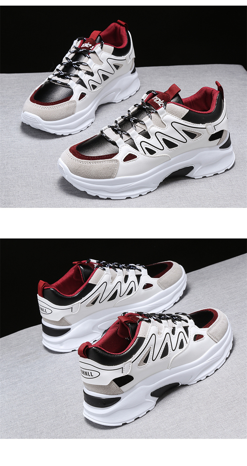 Spring Summer New Fashion Women's Vulcanize Shoes Casual Platform Increased Women Shoes Sneakers Casual Shoes Women VT611 (10)