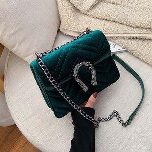 Women Bag Velour Shoulder Bag