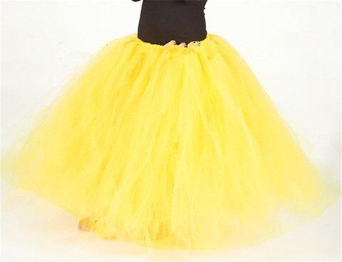 amarelo brilhante natal meninas tutu saia fofo tule criancas meninas saias festa de aniversario princesa