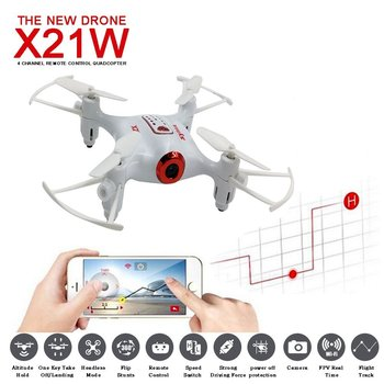 SYMA X21W Mini drone with camera WiFi FPV 720P HD 2.4GHz 4CH 6-axis RC Helicopter Drone Altitude Hold RTF Remote Control Toys