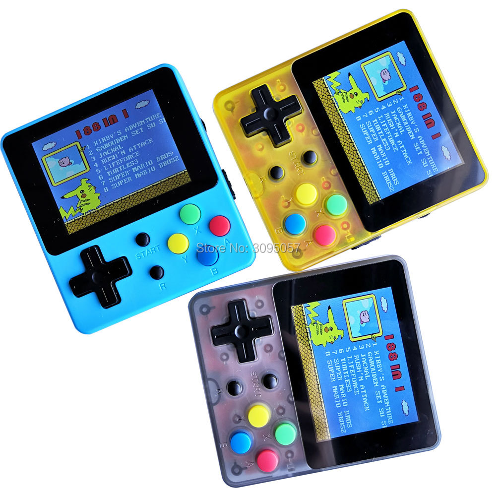 Classic Retro Handheld Game Console 2.4 inch IPS screen built in 188 classic games 8 bit video game player
