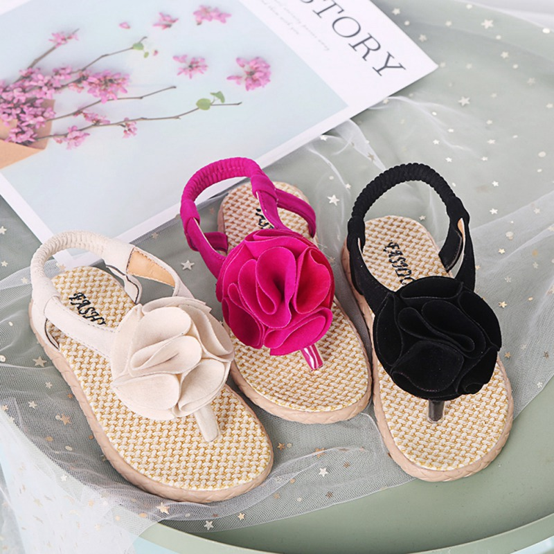Flowers Toddler Sandals Summer Baby Girls Shoes Toddler Infant Beach Sandals Flowers  Princess Shoes Sandals For Children