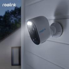 Reolink أرجوس 3 بطارية قابلة للشحن كاميرا تعمل بالطاقة الشمسية 1080p كامل HD الأضواء اللون ليلة IP65 weaterproof PIR 2 في اتجاه الصوت