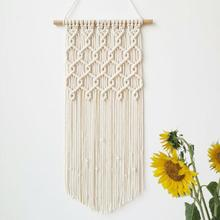 Macrame Boho Tapestry Wall Hanging Hand-woven Home Decoration Accessories Nordic Art Tassel Apartment Dorm Room