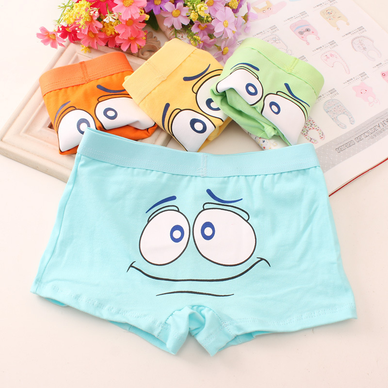 New 4pcs 2-12 Years Kid Boys Cotton Underwear  Male Cartoon Printed Child Boys Girls Comics Boxers Briefs Pantie Shorts Cloths