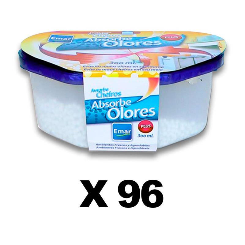 BOX 96 Units 1113-Odor Absorbing 300 Ml. Capacity Airtight Anti-discharges