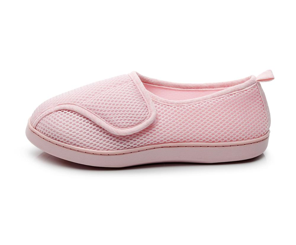 Women Shoes Home Soft Mesh Breathable Pregnant Slippers anti-slip Diabetic Arthritis Edema Slippers for Expectant Mom Extra Wide 3