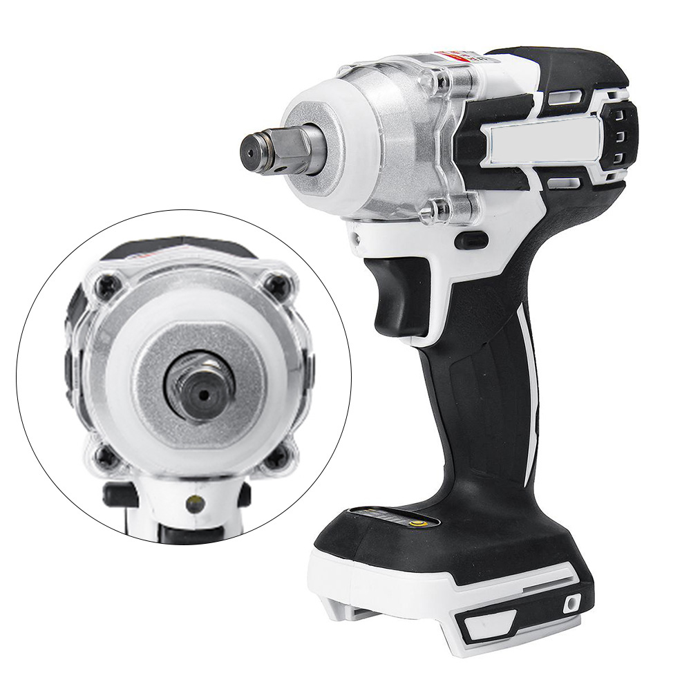 1280W Brushless Electric Hammer Cordless Drill 19800mAH 240-520NM Adjustable 0~3600 RPM 240-520NM Torque No Charger&battery