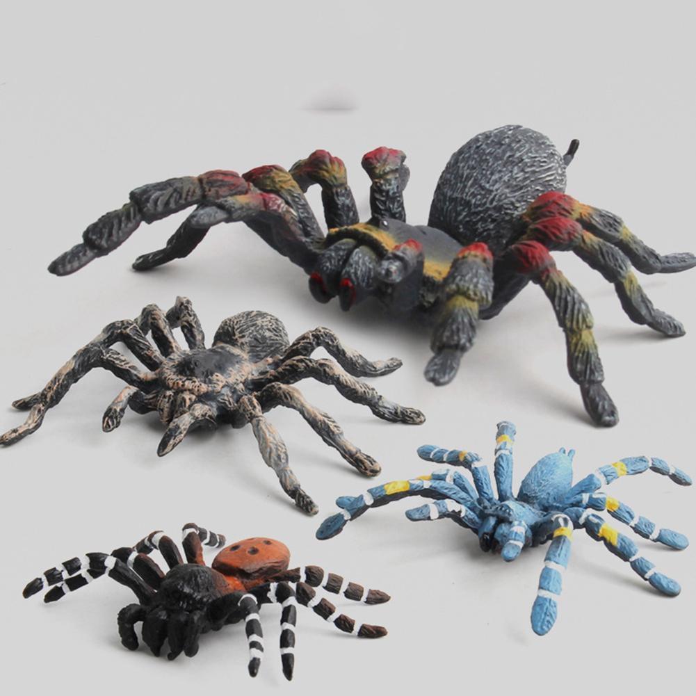 Realistic 3D Spider Wild Insect Model Prank Halloween Trick Prop Kids Toy Gift Mini Doll Figurine Toy Gift