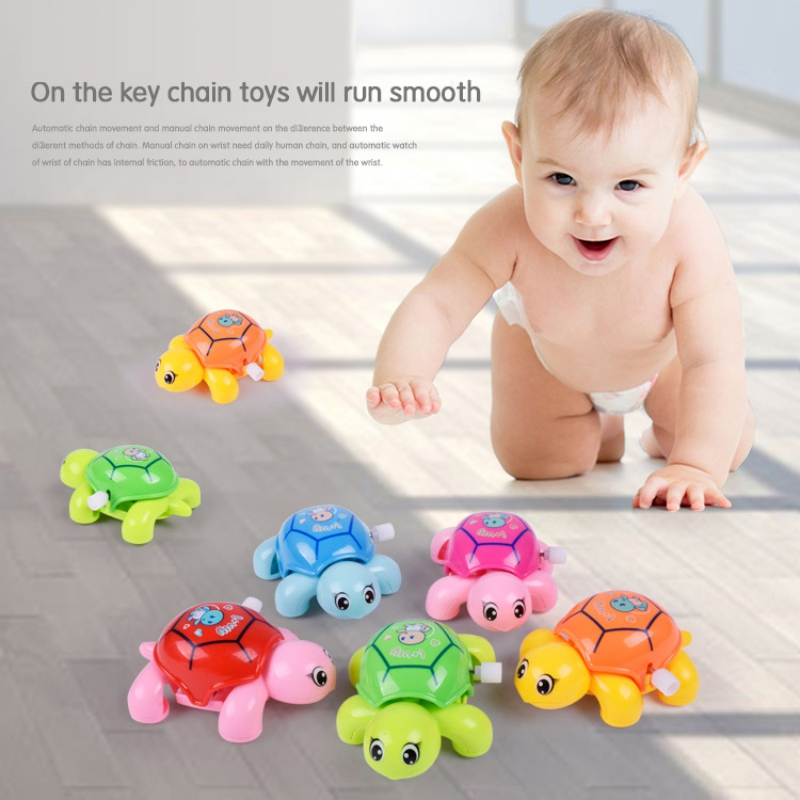 Baby Kids Turtle Toys Spring Clockwork Toy Mini Pull Back Crawling Tortoise Wind Up Toys For Children Boys 5 Colors