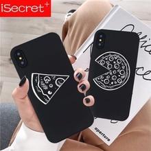 Lustige Pizza Beste Freunde Telefon Fall Für iPhone X XS MAX XR 11 Pro 7 8 6 6s Plus schwarz Paar Weiche Rückseitige Abdeckung Funda Shell