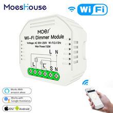 MoesHouse DIY Smart WiFi Light LED Dimmer 1/2 Way Switch Smart Life/Tuya APP Remote Control,Works with Alexa Echo Google Home