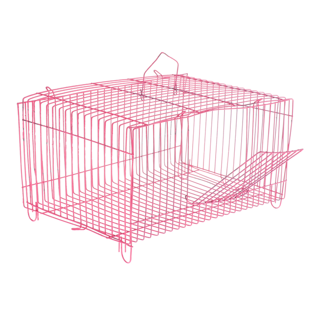 2 Pieces Small Pet Hamster Rabbit House Folding Cage Small Animal Crate 5