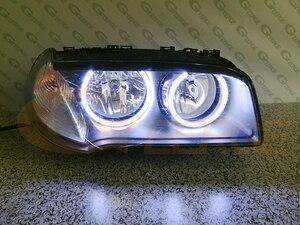Image 5 - 우수한 울트라 브라이트 COB led 천사 눈 헤일로 링 자동차 스타일링 BMW E83 X3 facelift 2007 2008 2009 2010 헤드 라이트