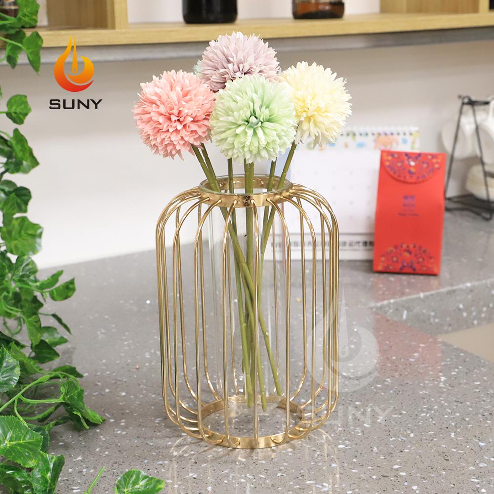 Creative Art Retro Iron Line Flowers Vase Decoration Metal Plant Holder Modern Nordic Styles Iron Vase Home Garden For Flowers
