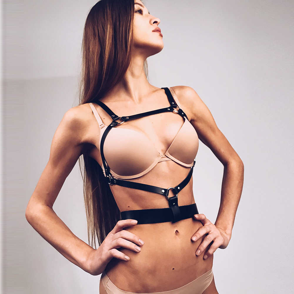 Dropshipping Fashion Women Garters High Quality Leather Harness Sexy Lingerie Belts Body Bondage Erotic Dress Straps Lovely Xun