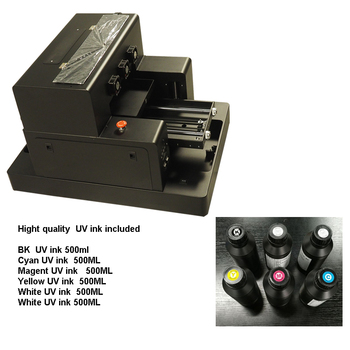 Ink jet UV  A3 size  Flatbed printer for Candle  with min. diameter 60mm to Print
