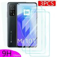 3 uds de vidrio Protector para Xiaomi Mi 10 T templado película en Redmi Nota 10 Pro Max 10S Mi10 T Lite 5G Mi10t 10tpro Protector de pantalla