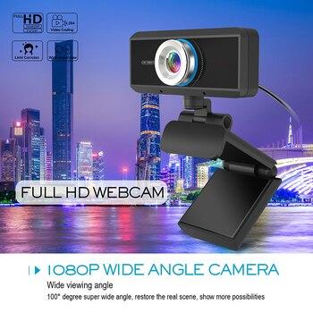 HD 1080P Webcam Desktop Laptop Video Calling Camera with Microphone Home Office KQS8